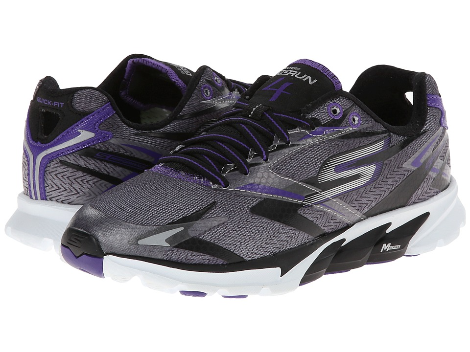 SKECHERS - Go Run 4 (Black/Purple) Women's Running Shoes