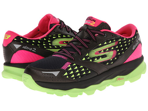 SKECHERS - Go Run Ultra 2 (Black/Lime) Women