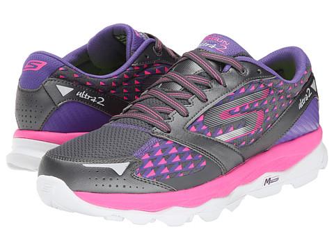 SKECHERS - Go Run Ultra 2 (Charcoal/Hot Pink) Women's Running Shoes