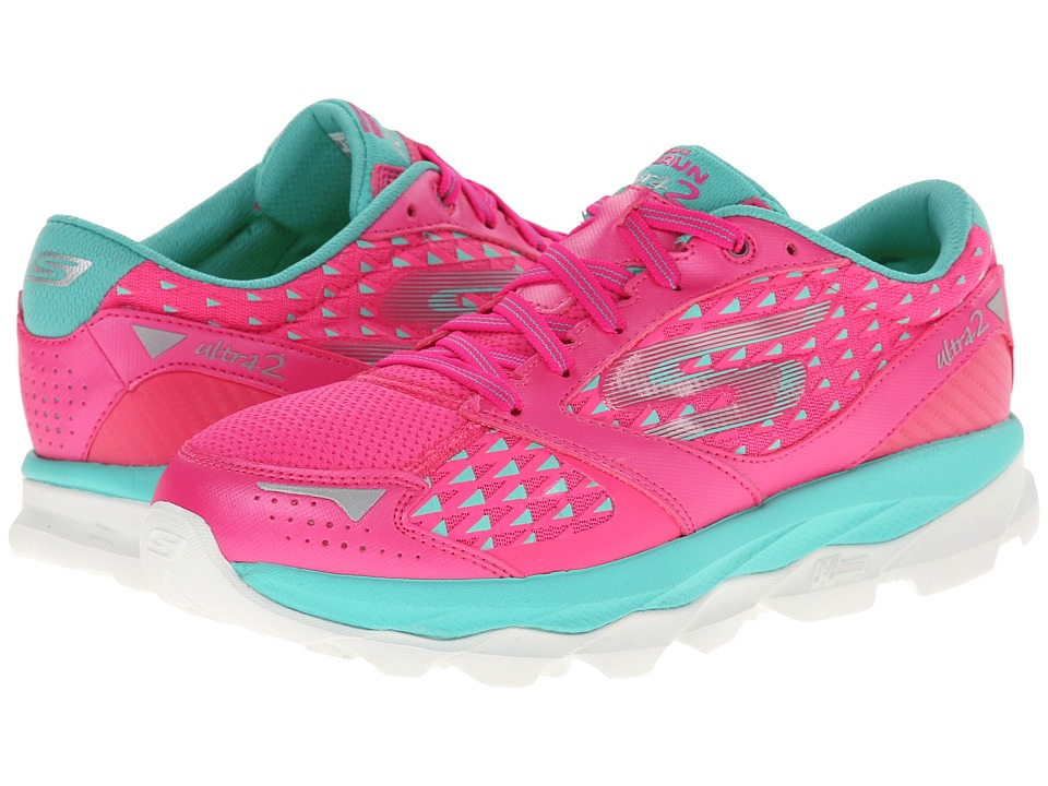 SKECHERS - Go Run Ultra 2 (Hot Pink/Aqua) Women's Running Shoes