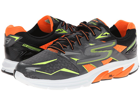 SKECHERS - Go Run Strada (Charcoal/Orange) Men