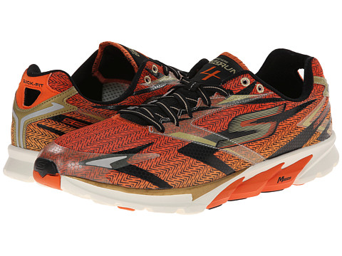 SKECHERS - Go Run 4 (Black/Orange) Men's Running Shoes