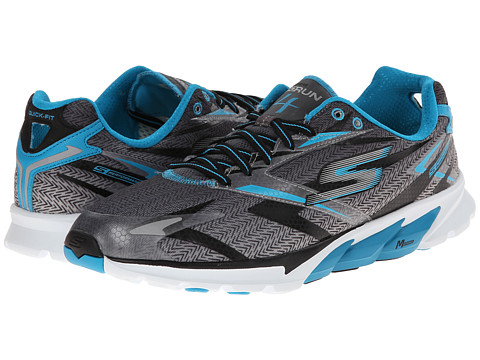 SKECHERS - Go Run 4 (Black/Blue) Men's Running Shoes