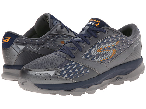 SKECHERS - Go Run Ultra 2 (Charcoal/Navy) Men's Running Shoes
