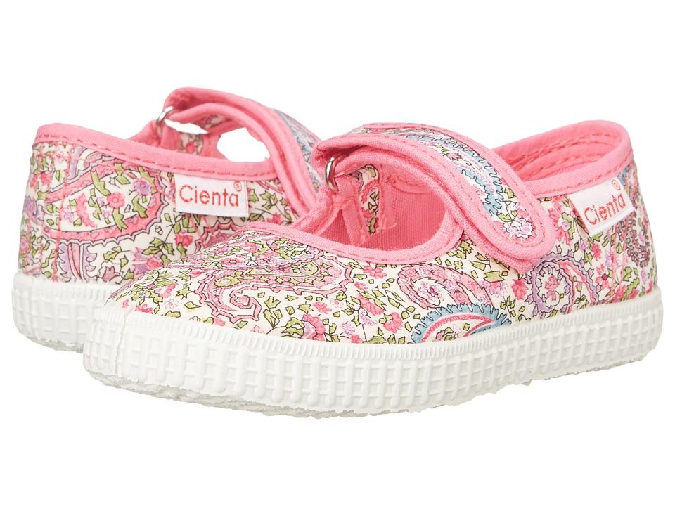 Cienta Kids Shoes - 56030 (Infant/Toddler/Little Kid/Big Kid) (Fuchsia Floral) Girl's Shoes