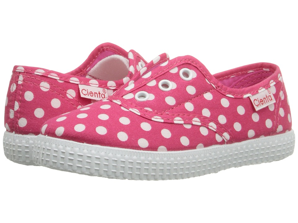 Cienta Kids Shoes - 55088 (Infant/Toddler/Little Kid/Big Kid) (Fuchsia Dot) Girl's Shoes