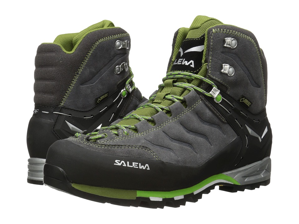 SALEWA - Mountain Trainer Mid GTX (Pewter/Emerald) Men's Shoes