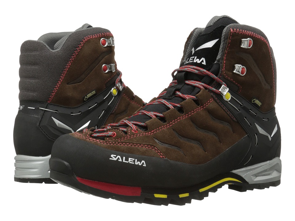 SALEWA - Mountain Trainer Mid GTX (Brown/Yellow) Men's Shoes