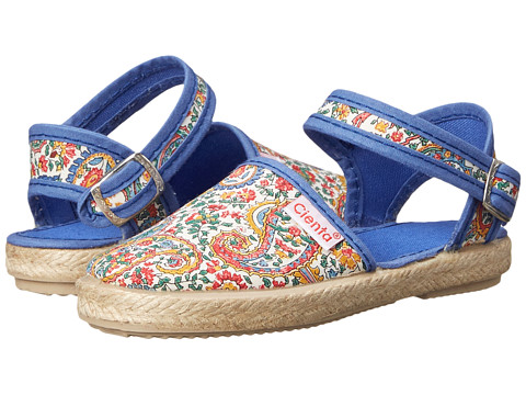 Cienta Kids Shoes - 40030 (Toddler/Little Kid) (Blue Floral) Girl