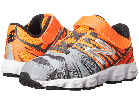 New Balance Kids - KV890OCI (Infant/Toddler) (Neon Orange/Grey) Boys Shoes