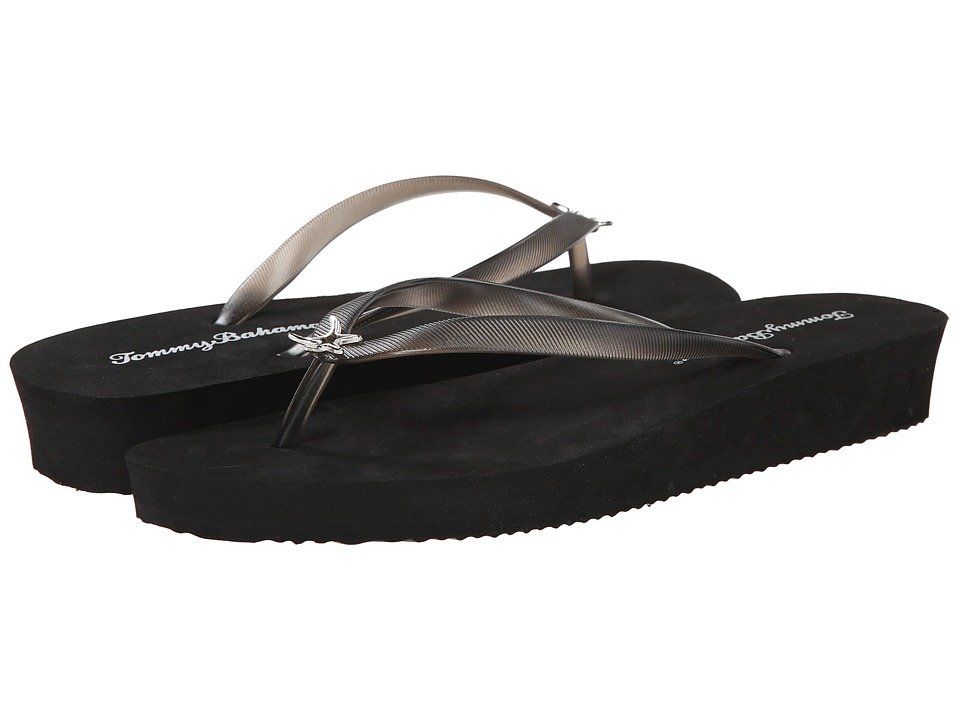 Tommy Bahama Whykiki Wedge Solid (Black) Women