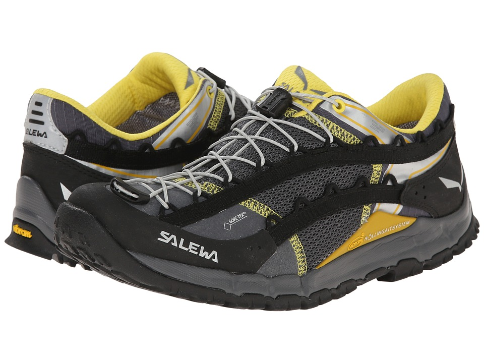 SALEWA - Speed Ascent GTX (Black/Yellow) Men's Shoes