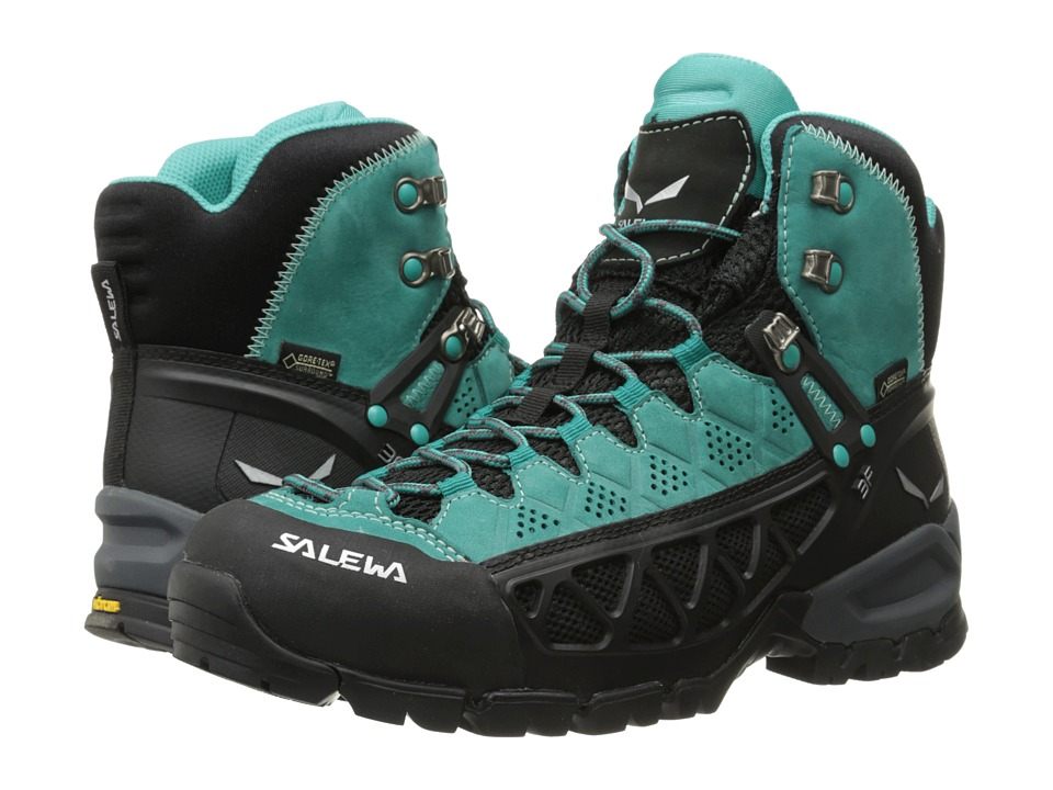 SALEWA - Alp Flow Mid GTX (Venom/Bright Acqua) Women's Shoes