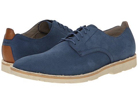 Clarks - Gambeson Walk (Navy Nubuck) Men's Lace up casual Shoes