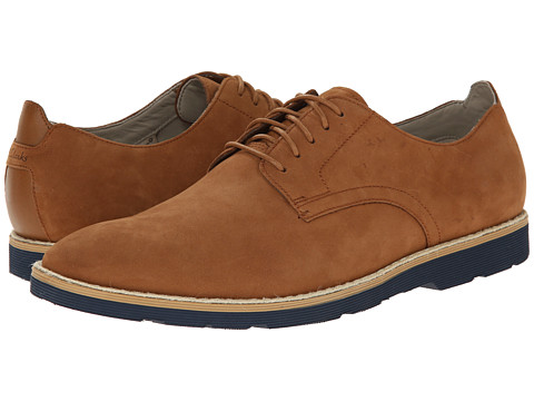 Clarks - Gambeson Walk (Tobacco Nubuck) Men's Lace up casual Shoes