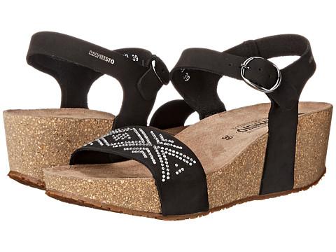 Mephisto - Fanie Sparkling (Black Nubuck) Women's Sandals