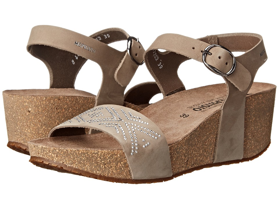 Mephisto - Fanie Sparkling (Light Grey Nubuck) Women's Sandals