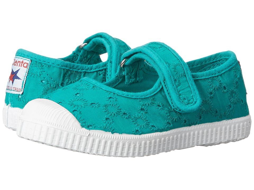 Cienta Kids Shoes - 76998 (Toddler/Little Kid/Big Kid) (Aqua) Girl's Shoes