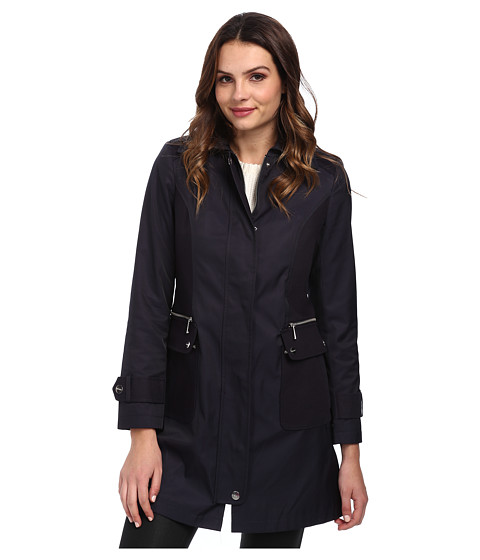 DKNY - Snap Front Jacket (Navy) Women