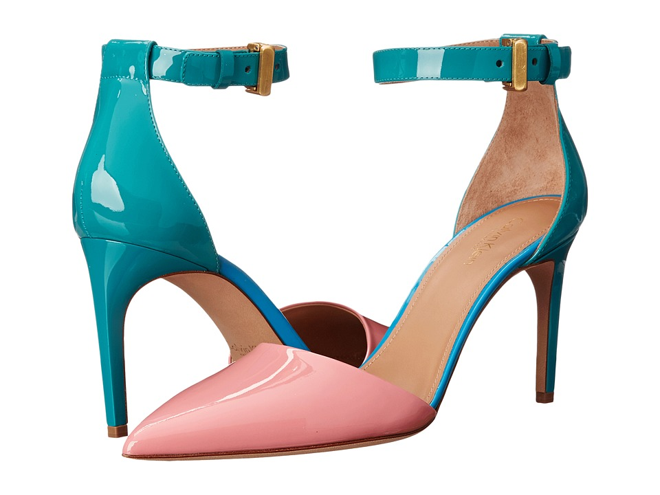 Calvin Klein Collection Brianna (Bubblegum/Wintergreen/Blueberry Patent) High Heels