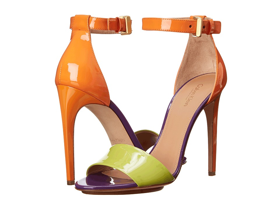Calvin Klein Collection Vira (Lime/Tangerine/Grape Patent) Women