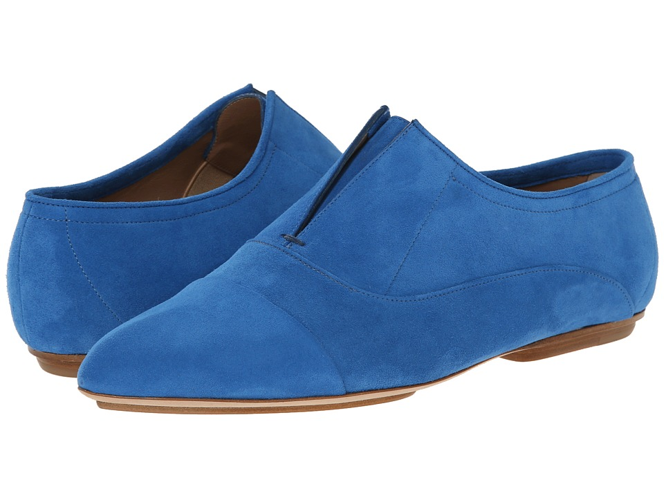 Calvin Klein Collection Remi Blueberry Suede Womens Slip on  Shoes