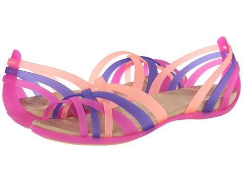 Crocs - Huarache Flat (Vibrant Violet/Melon) Women's Sandals