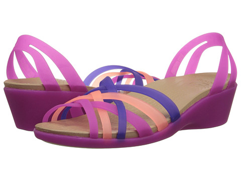 Crocs - Huarache Mini Wedge (Vibrant Violet/Melon) Women