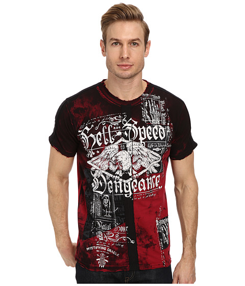 Affliction - Hell Speed S/S Tee (Dirty Red) Men