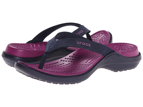 Crocs - Capri IV (Nautical Navy/Viola) Women's Slide Shoes