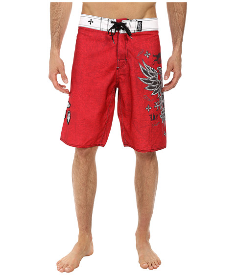 Affliction - Royale Rust Boardshort (Red) Men's Swimwear
