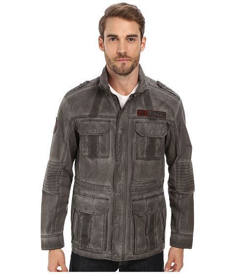 Affliction - Fast N Loud Parka Jacket (Charcoal) Men's Coat