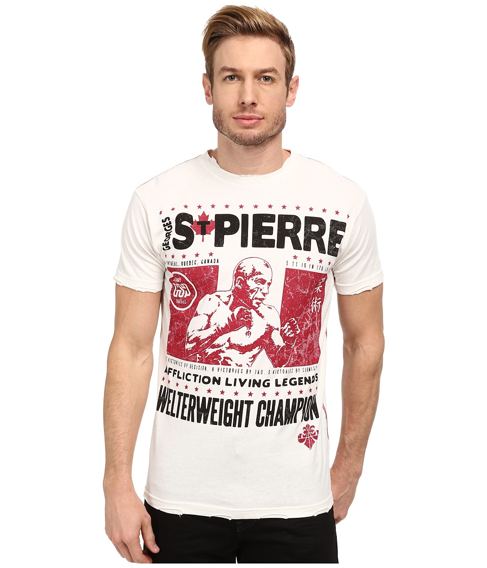 Affliction - GSP Legend S/S Tee (Vintage White) Men