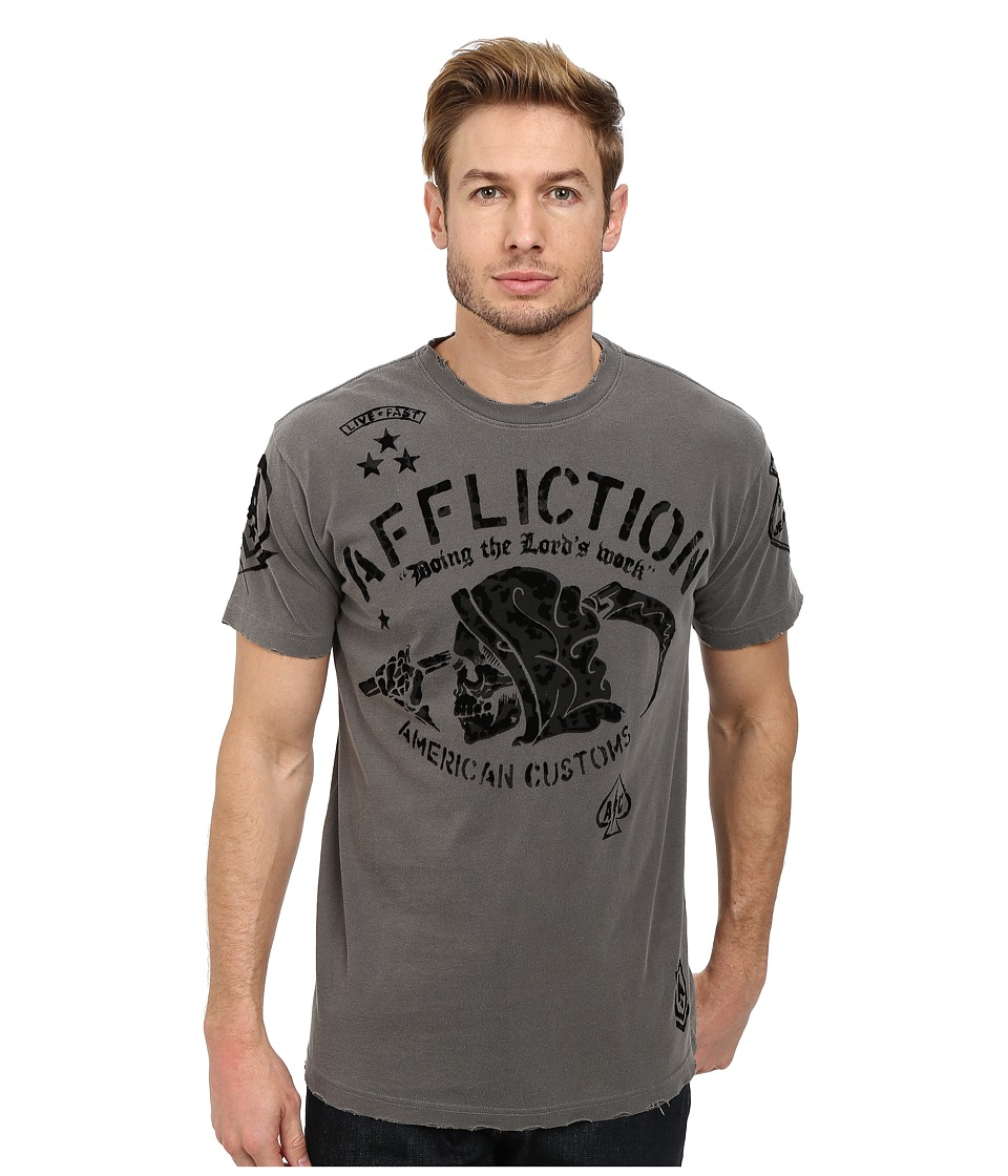 Affliction - Job Security S/S Tee (Black Aged Pigment) Men