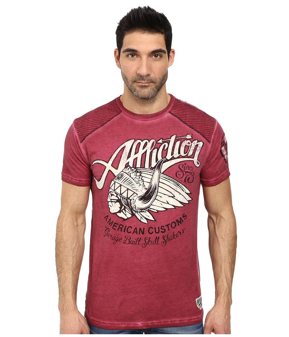 Affliction - Skull Shaker S/S Tee (Dirty Red) Men