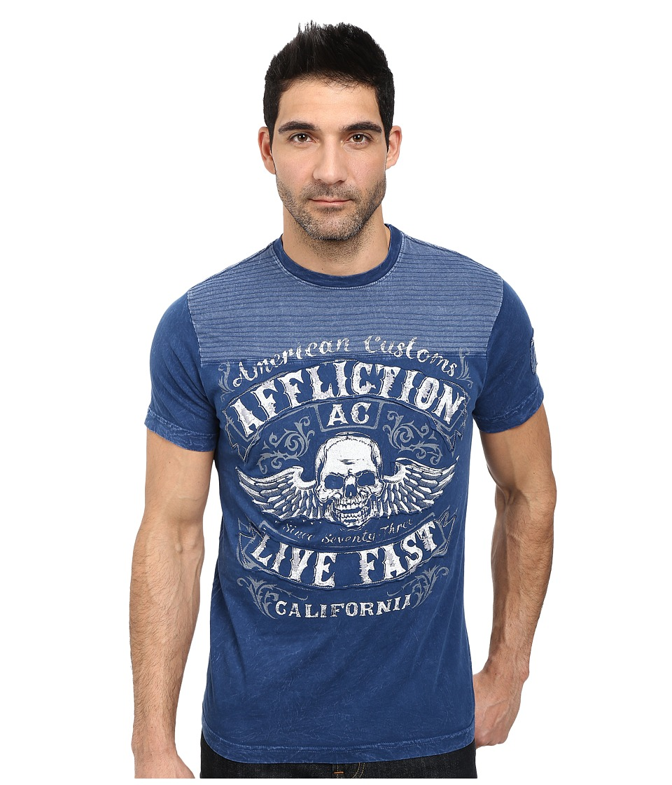 Affliction - Inquisition S/S Tee (Dark Navy Lava Wash) Men