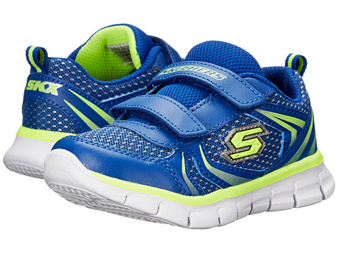 SKECHERS KIDS - Synergy - Mini Sprint 95091N (Toddler/Little Kid) (Blue/Yellow) Boy's Shoes