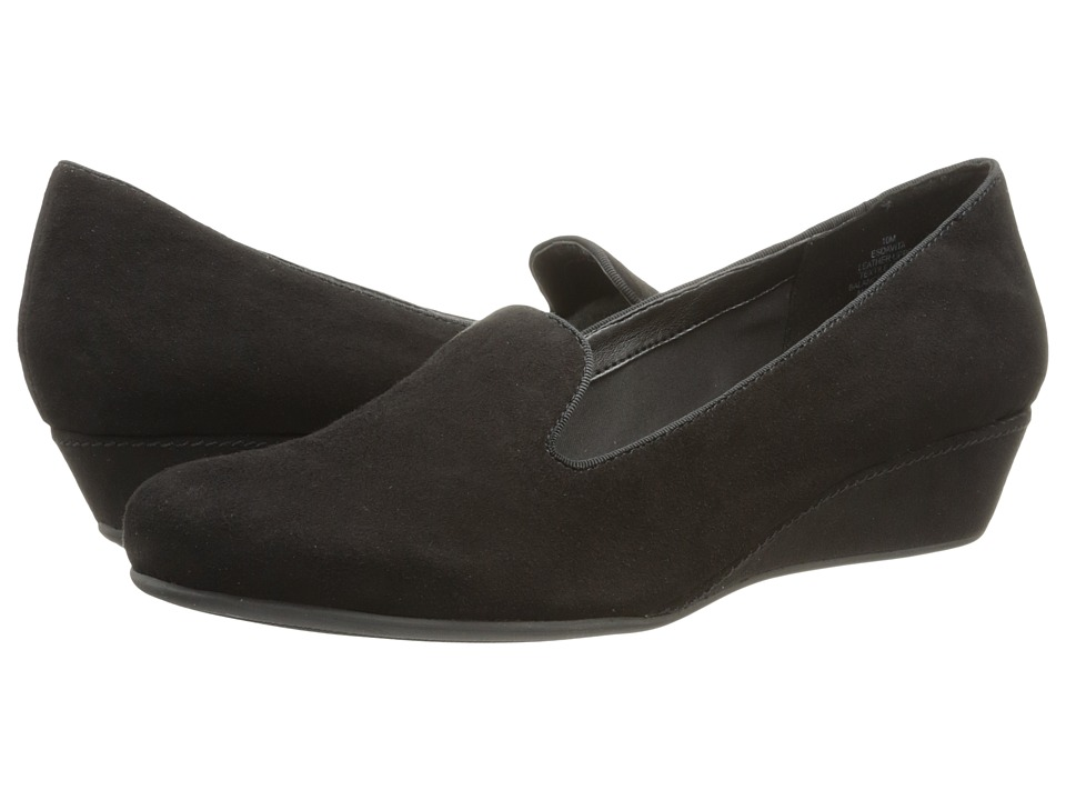 Easy Spirit - Davita (Black/Black Suede) Women