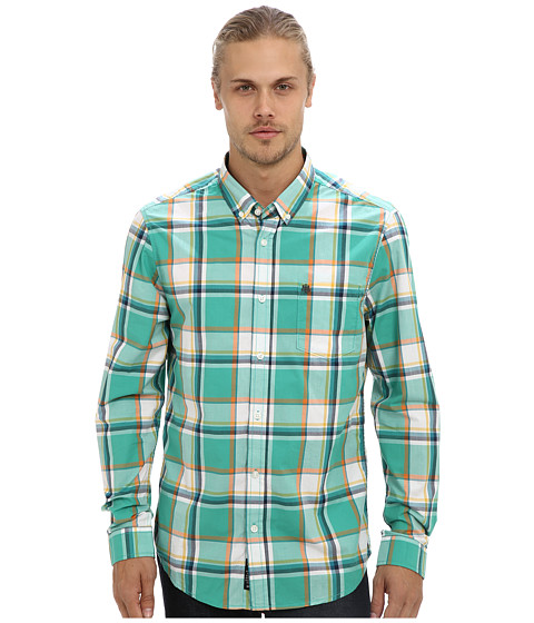 Mavi Jeans - Checked Shirt (Green) Men's Long Sleeve Button Up