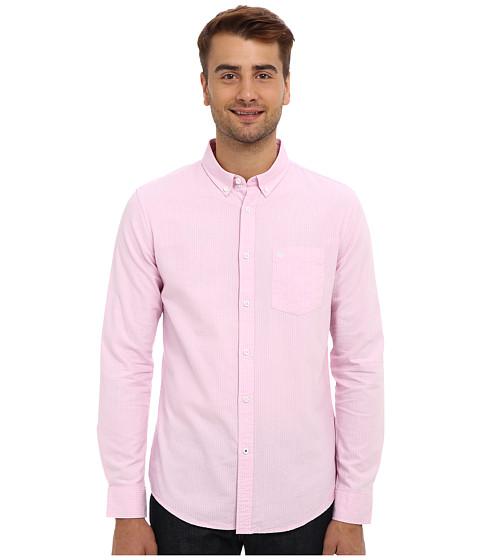 Mavi Jeans - Striped Shirt (Pink) Men's Long Sleeve Button Up