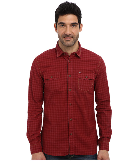 Mavi Jeans - Plaid Shirt (Red) Men's Long Sleeve Button Up
