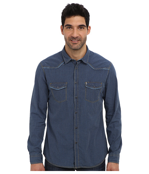 Mavi Jeans - Checked Shirt (Indigo) Men's Long Sleeve Button Up