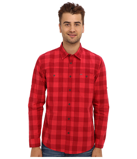 Mavi Jeans - Checked Shirt (Red) Men's Long Sleeve Button Up