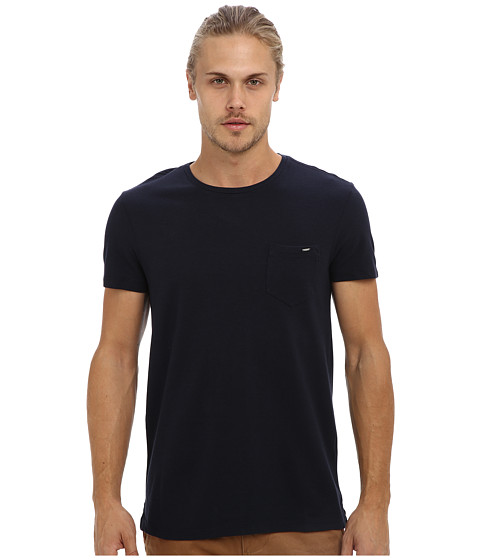 Mavi Jeans - T-Shirt (Navy) Men's Short Sleeve Pullover
