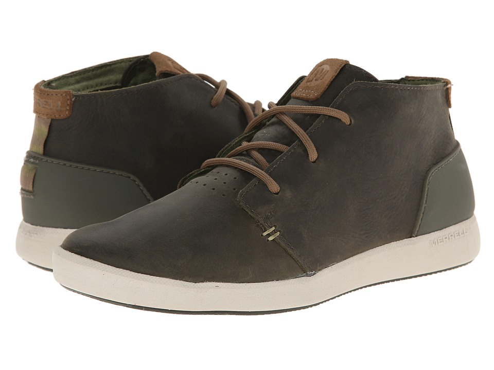 Merrell - Freewheel Chukka (Dark Olive) Men's Shoes