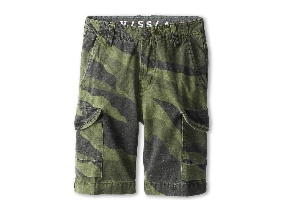 VISSLA Kids - Gunner Walkshort (Big Kids) (Army) Boy's Shorts