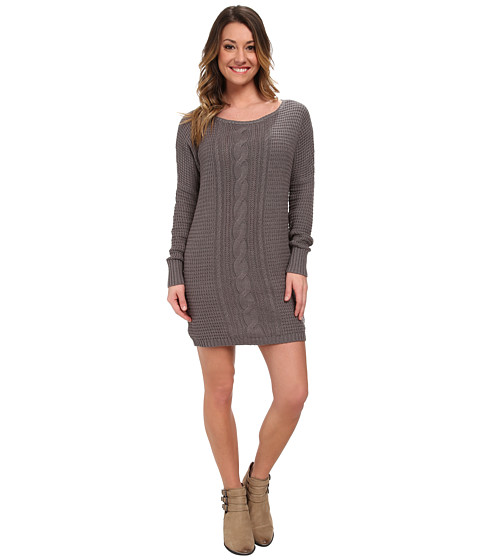 Roxy - Shifting Seas Knit Dress (Charcoal Heather) Women