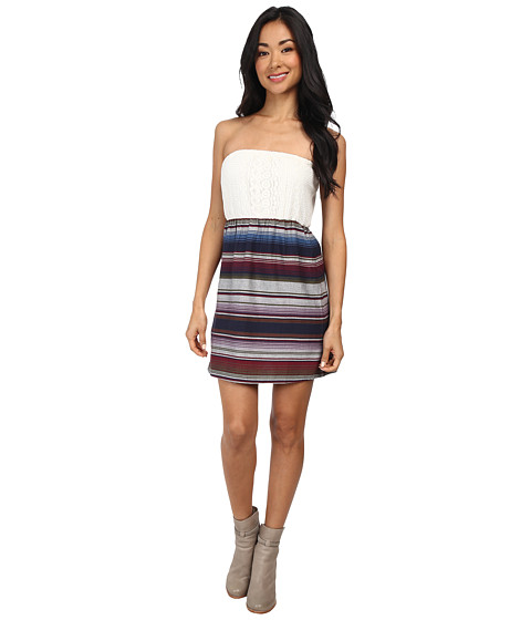 Roxy - Jasmine Woven Dress (Winter Peacoat Stripe) Women's Dress