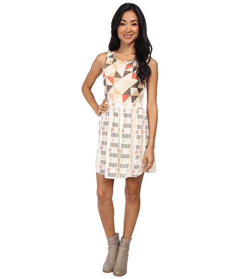 Roxy - Shaded Woven Dress (Geo Sea Spray Pattern) Women