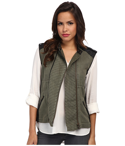 Mavi Jeans - Zipper Vest (Green) Women's Vest